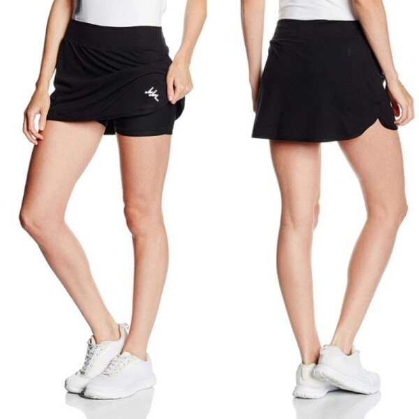 Womens Active Athletic Skort Lightweight Skirt With Pockets Quick Dry Pencil Skirts With Shorts Inner For Running Tennis Golf Workout