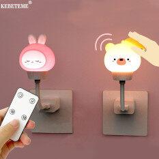 Đèn Ngủ LED USB Điều Khiển Từ Xa KEBETEME Đèn Ngủ Hình Thỏ Cho Trẻ Em Dùng Để Trang Trí Phòng Ngủ