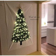 Cây thông Noel bền Tấm thảm Treo tường Hình vuông Tấm thảm trang trí cho phòng ngủ, Tấm thảm trải bàn Tấm trải sàn Treo vải Tiệc Studio Đạo cụ Chụp ảnh Nền cho Trang trí Giáng sinh