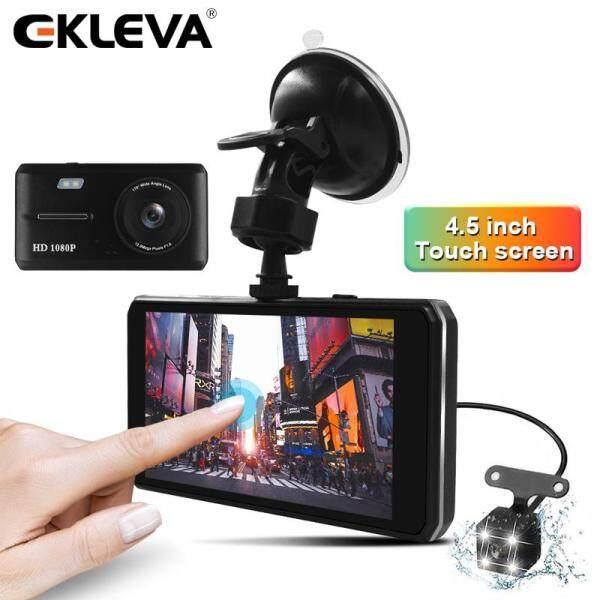 2 Camera Hành Trình EKLEVA Cho Xe Ô Tô, Ống Kính 4.5 Inch HD, Ống Kính Kép Với Camera Chiếu Hậu, Ghi Hình, Tự Động Đăng Ký DVR