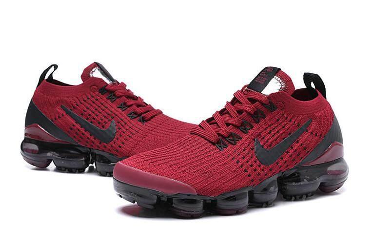 20364564ceaa Nike Original Air VaporMax Flyknit 2019 Low Top WOMENS Global Sales Running  Shoe Red Black