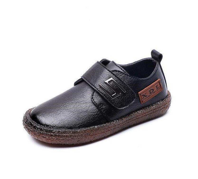 Giày Da Trẻ Em Cho Bé Trai, Giày Đế Bệt Đi Học, Đám Cưới, Cổ Điển, Màu Đen, Thời Trang Kiểu Anh Mùa Xuân giá rẻ