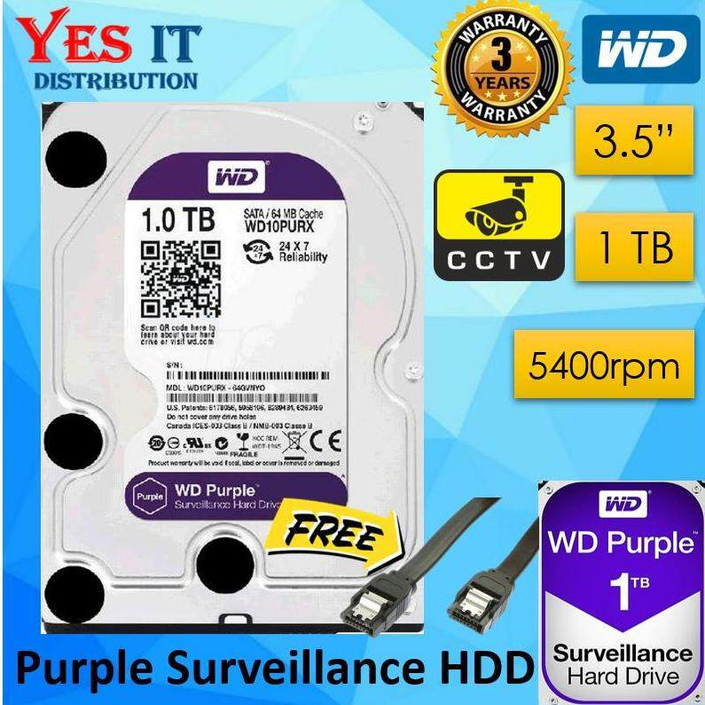 WD Purple 1TB 3 5