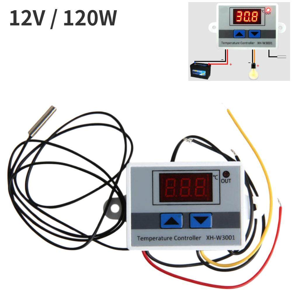 12 V 120 W Termostat Terprogram Smart Termostat Digital Pendinginan dan Pemanasan Pengatur Suhu untuk AC Sentral Fan Unit Kumparan (Putih)