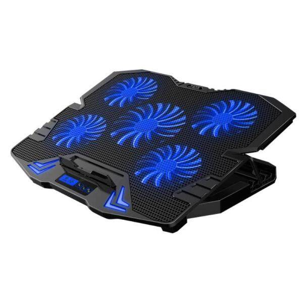 K5 5 Fan 2 Usb Adjustable Laptop Cooler Notebook Computer Lighting Cooling Pad Base Stand Cooler Base Silent Fans Malaysia