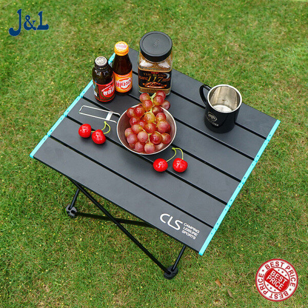 Outdoor Foldable Table, Lightweight Aluminum Portable Compact Outdoor Camping Carry Barbecue Table
