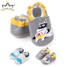Giày Em Bé Mùa Thu Mới, Giày Trẻ Tập Đi Đế Mềm Bằng Da Pu Hình Động Vật Hoạt Hình, Giày Trẻ Em Bé Trai Bé Gái Tập Đi Đầu Tiên 0-18 M