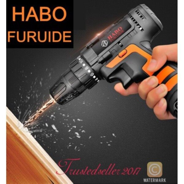 【Electric drill】 (Ready Stock) Habo 12V Cordless Drill with Carrying Case - 100% original HABO 12V Drill Screwdriver Hand Electric Drill