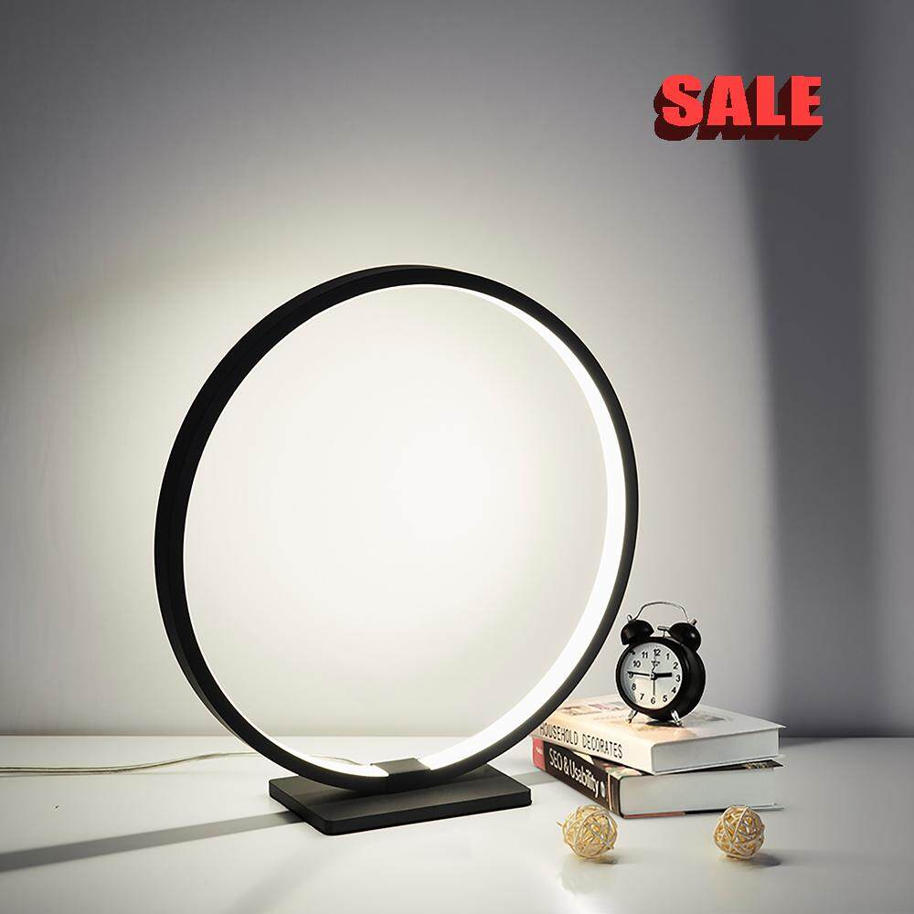 Lamplo Modern Circle Acrylic LED Table Lamp touch dimmable Minimalist Bedside Lamp nightstand light study reading desk Lamp