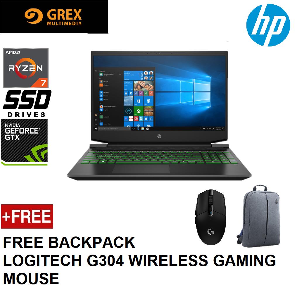 HP PAVILION GAMING LAPTOP 15-EC0059AX (RYZEN 7 3750H,8GB,512GB SSD,15.6 FHD,GEFORCE GTX1650 4GB,WIN10) FREE BACKPACK + LOGITECH G304 WIRELESS GAMING MOUSE Malaysia