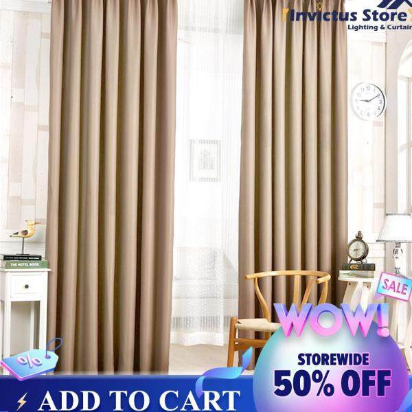 Free shipping Solid Color Polyester Fiber Darkening Curtains for Living Room Bedroom [Suggest buy above 2pcs]