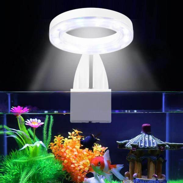 Ánh Sáng Hồ Cá Đèn LED Trồng Cây Hình Tròn, Đèn Nước Ngọt Thủy Sinh 5W Đèn Kẹp Không Thấm Nước Trên Bể Cá Không Nhấp Nháy