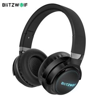 BlitzWolf BW-HP0 Tai Nghe Bluetooth Không Dây Chuyên Nghiệp Tai Nghe Chơi Game Mic Khử Tiếng Ồn Thẻ TF AUX 1000MAh Âm Thanh Nổi HiFi Nhẹ RGB-Màu Đen thumbnail
