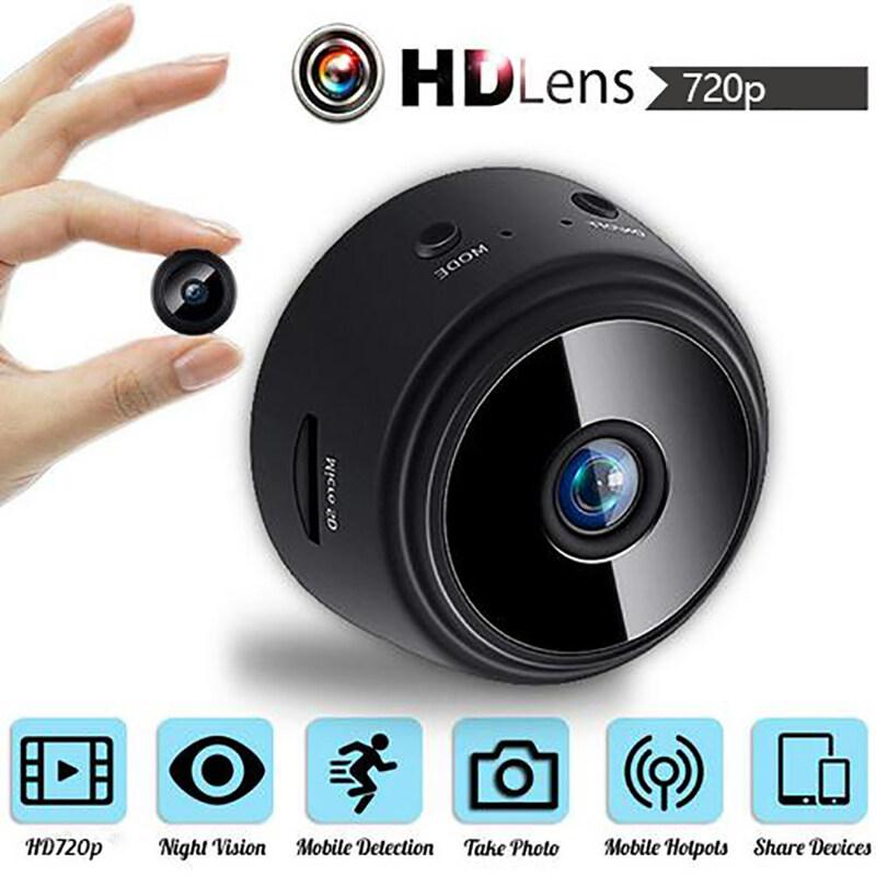 Agbistue 1 Camera IP Mini A9 1080P HD Wifi, Máy Quay Siêu Nhỏ Phiên Bản Ngoài Trời DVR An Ninh Gia Đình Không Dây Tầm Nhìn Ban Đêm Hỗ Trợ Thẻ TF Lên Đến 128GB