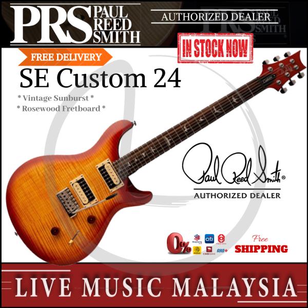 PRS SE Custom 24 Electric Guitar - Vintage Sunburst (SE-24/SE24) Malaysia