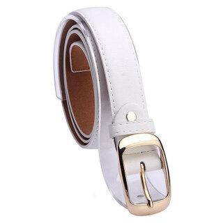 Thời Trang Nữ Faux Leather Alloy Pin Khóa Thắt Lưng Dây Đeo Thắt Lưng Mỏng thumbnail