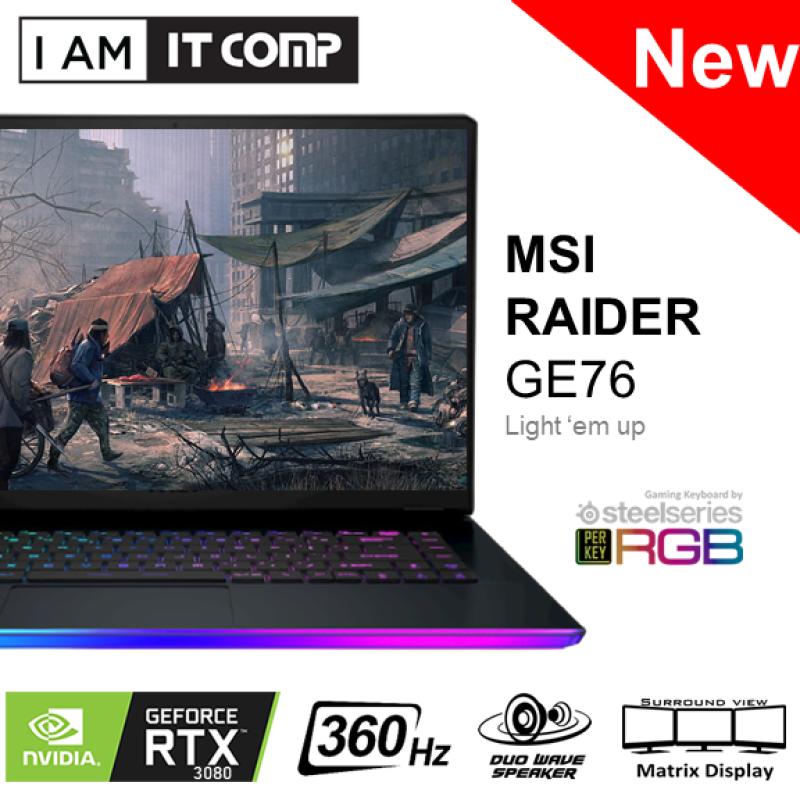 MSI Raider GE76 11UH-413 17.3 FHD 360Hz IPS Laptop ( i9-11980HK/64GB/2TB/RTX3080/W10 ) FOC MSI BACKPACK Malaysia