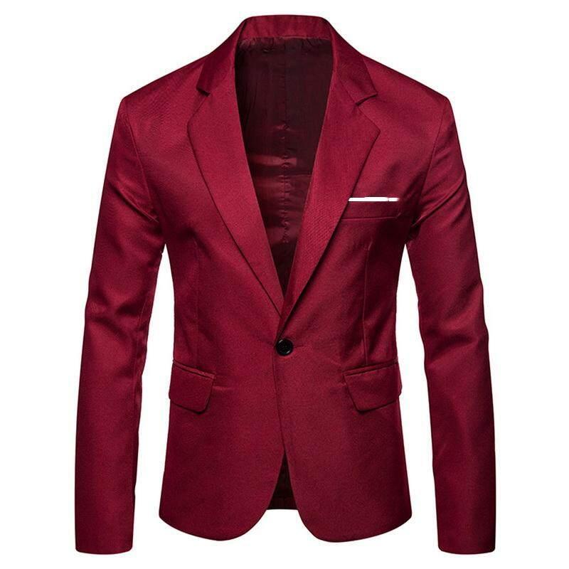 (s-6xl) ผู้ชาย Blazer ผู้ชายผ้าฝ้าย Casual เข้ารูปพอดีชุดสูทชั้นนอกธุรกิจอย่างเป็นทางการชาย Party เจ้าบ่าวเสื้อสูทเบลเซอร์ Coat By Yangs House.