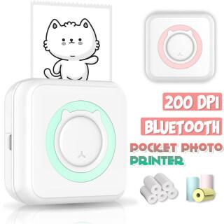 Máy In Ảnh Bỏ Túi 200 DPI Máy In Nhãn Không Dây Bluetooth Ảnh Mini Cho Điện Thoại Di Động Quà Tặng Android Và IOS thumbnail