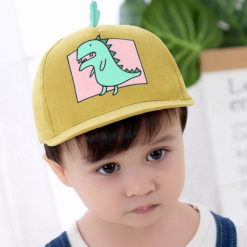 d792eef96a3 Spring Summer Children Baseball Cap Boys Girls Cartoon Dinosaur ...
