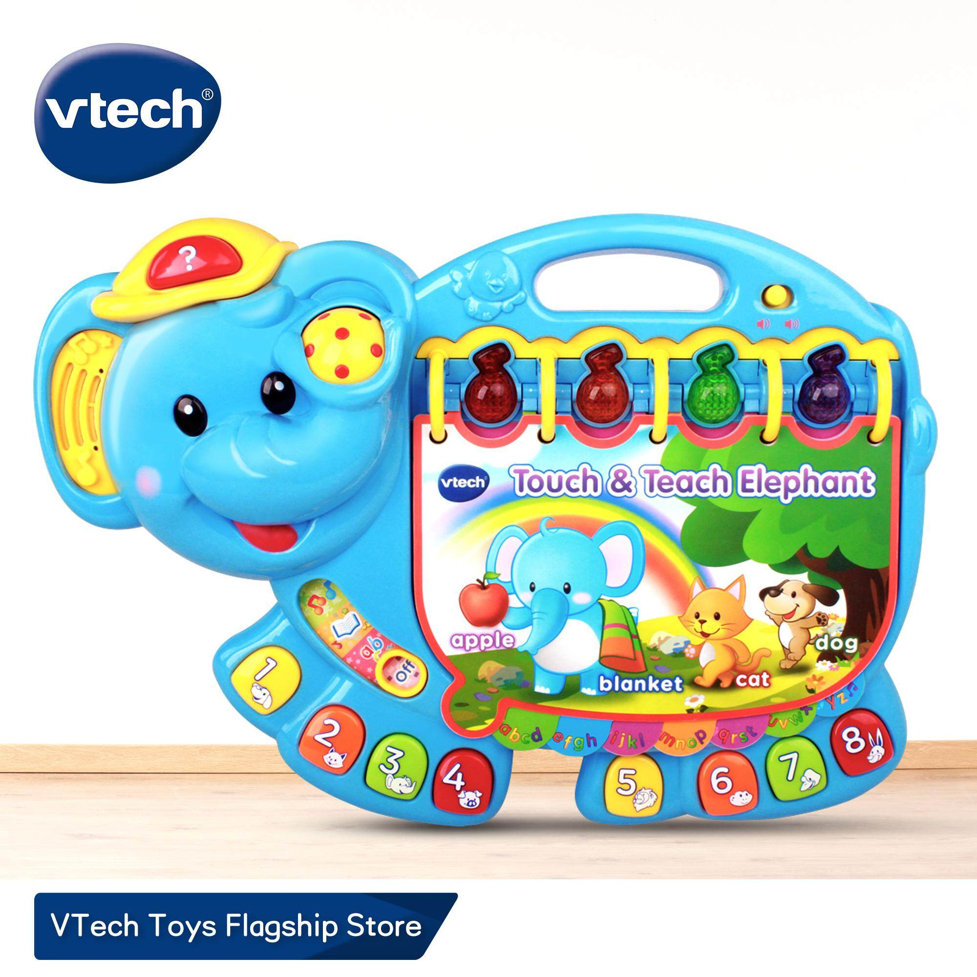 VTech English Alphabet Phonics Electronic Learning Book Touch and Learn  Elephant English Phonics Learning Book for Kids 1 years 2 years 3 years