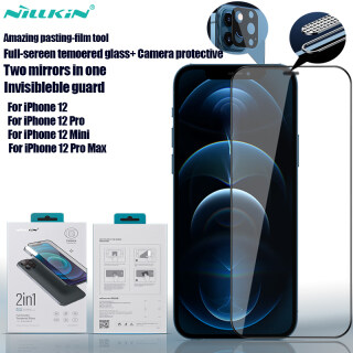 Kính Cường Lực Toàn Màn Hình Nillkin 2 Trong 1 HD Miếng Dán Bảo Vệ Kính Cường Lực Chống Trầy Xước HD Tuyệt Vời Cho iPhone 12 Mini iPhone 12 Pro Max iPhone 12 Pro iPhone 12 thumbnail