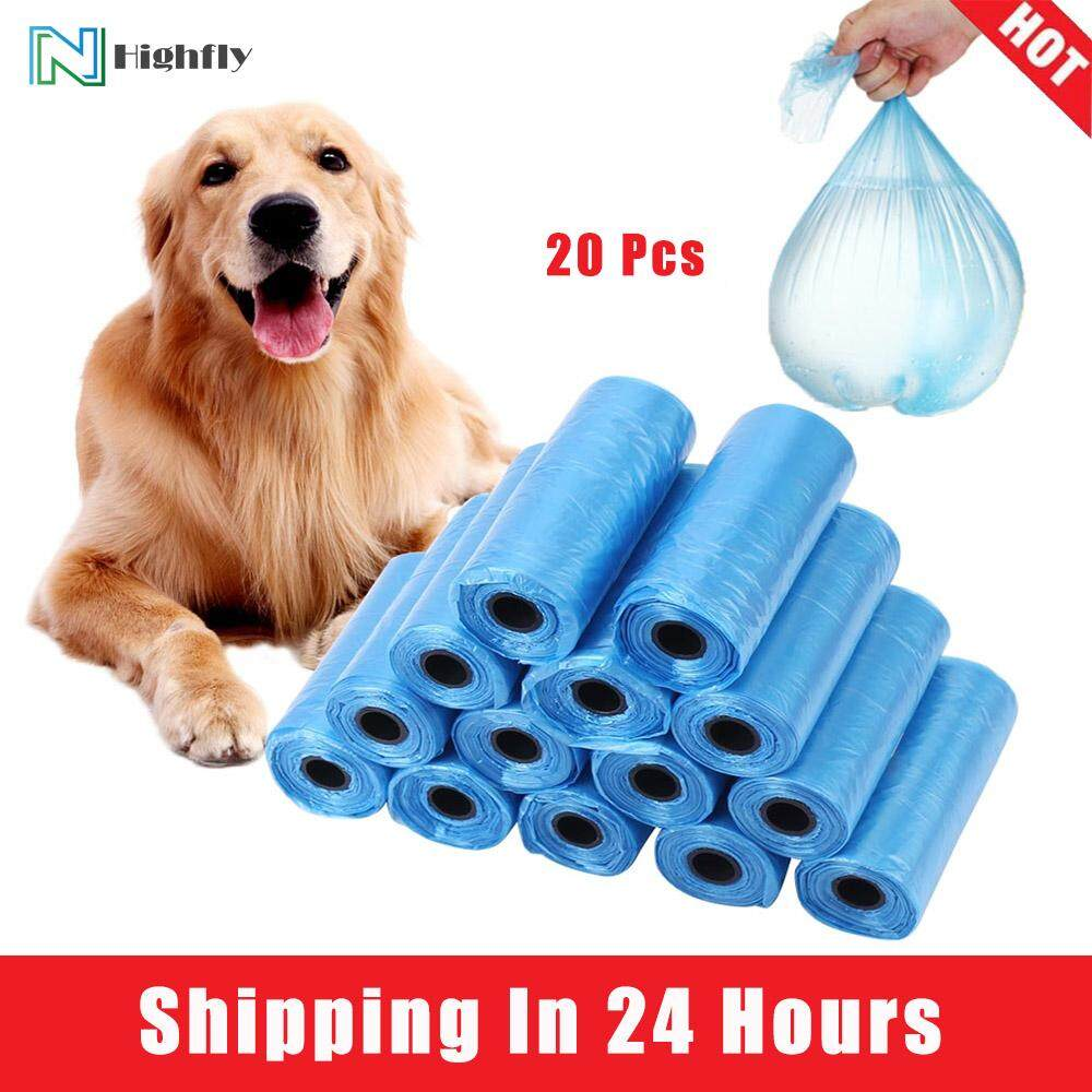 [quality Assurance] Highfly 20 Rolls Dog Poo Bag Trash Garbage Bags Cat Pets Waste Collection Bag By Highfly.