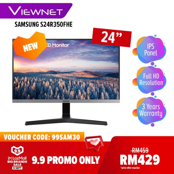 [[NEW MODEL 2020] Samsung S24R350FHE / S27R350FHE 24 / 27 Monitor (LS24R350FHEXXM / LS27R350FHEXXM), Full HD, IPS, AMD Freesync, 75hz refresh rate, 5ms, Eye Saver, HDMI, VGA, Magic Bright Malaysia