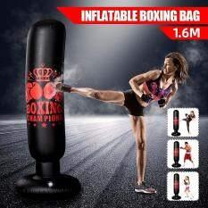 Bao Đấm Bốc Bơm Hơi Dọc 1.6M PVC Dày Boxing Trụ Cột Tumbler Cột Chiến Đấu Bao Cát Dụng Cụ Thể Dục Phù Hợp Với Người Lớn Trẻ Em