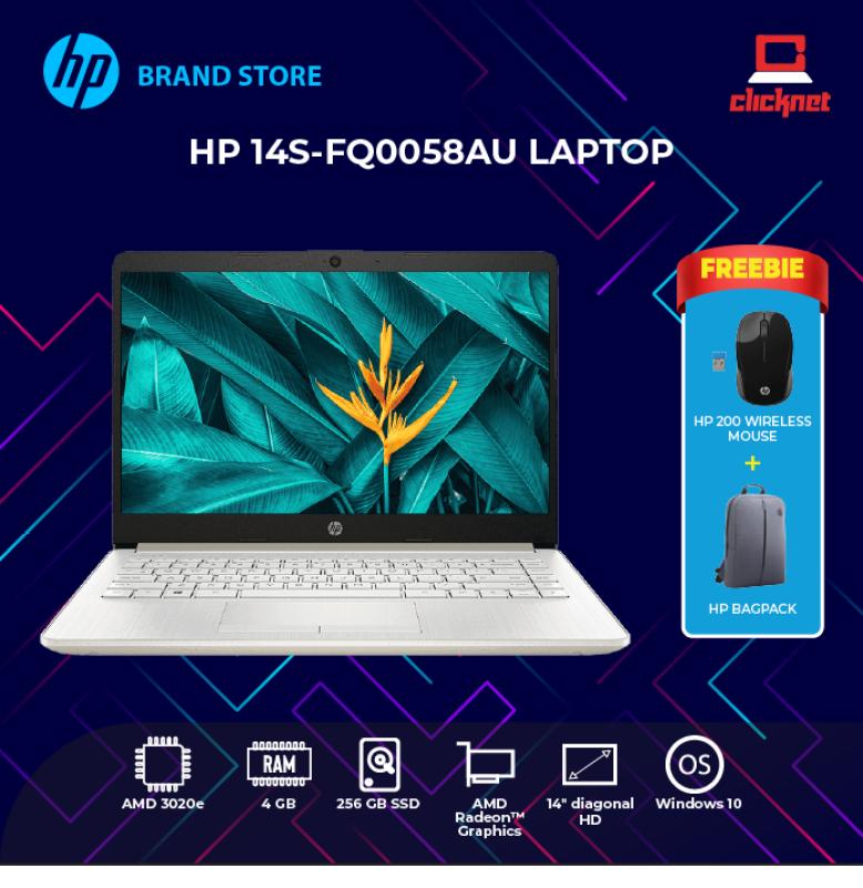 HP 14S-FQ0058AU LAPTOP (AMD 3020E,4GB,256GB SSD,14 HD,RADEON GRAPHICS,WIN10) Malaysia