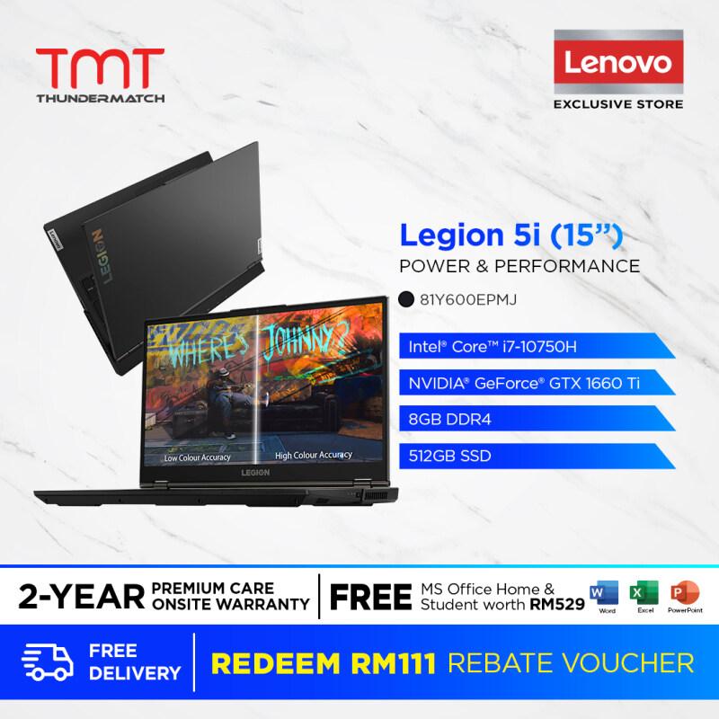Lenovo Legion 5 15IMH05H 81Y600EPMJ | i7-10750H | 8GB 512GB SSD | 15.6| GTX1660ti | FREE Microsoft Office| Win10|RGB KB Malaysia