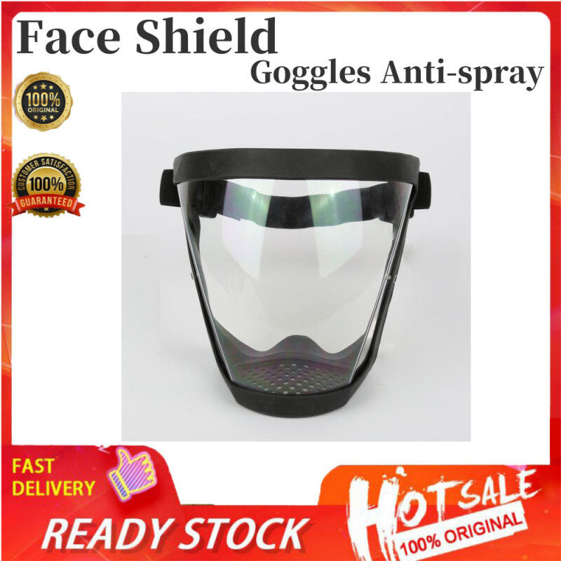 Tấm Chắn Mặt Trong Suốt/Màu Đen TBO Tấm Chắn Toàn Mặt Bằng Nhựa Acrylic Dành Cho Người Lớn Kính Thổi Phồng Có Khung, Kính Cường Lực Cho Covid Widen Eye Shield Kính Lái Xe Faceshield