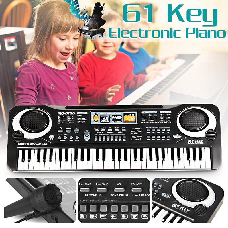 61 Phím Điện Kỹ Thuật Số Phím Ban Đàn Piano Nhạc Cụ Đồ Chơi Trẻ Em Có Micro Quà Tặng