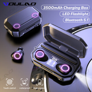 Tai Nghe VOULAO TWS Bluetooth 5.1, Hộp Sạc 3500MAh Tai Nghe Không Dây, Tai Nghe Chống Nước Thể Thao Âm Thanh Nổi 9D Tai Nghe Có Micro thumbnail