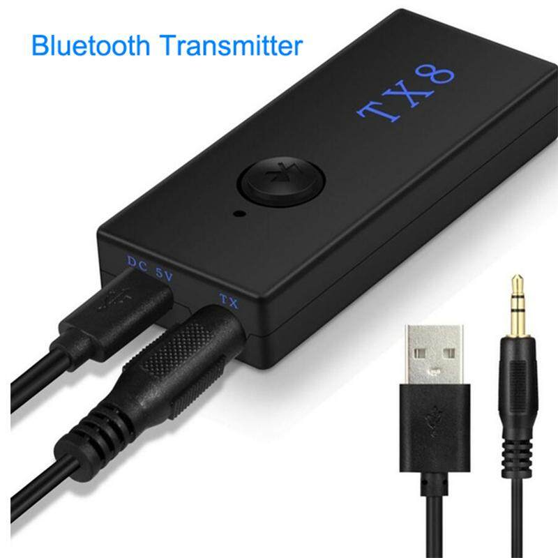 DC 5V Bluetooth Transmitter Wireless Bluetooth Stereo Audio Transmitter Adapter RCA 3.5mm for TV Headphone PC Laptop Tablet