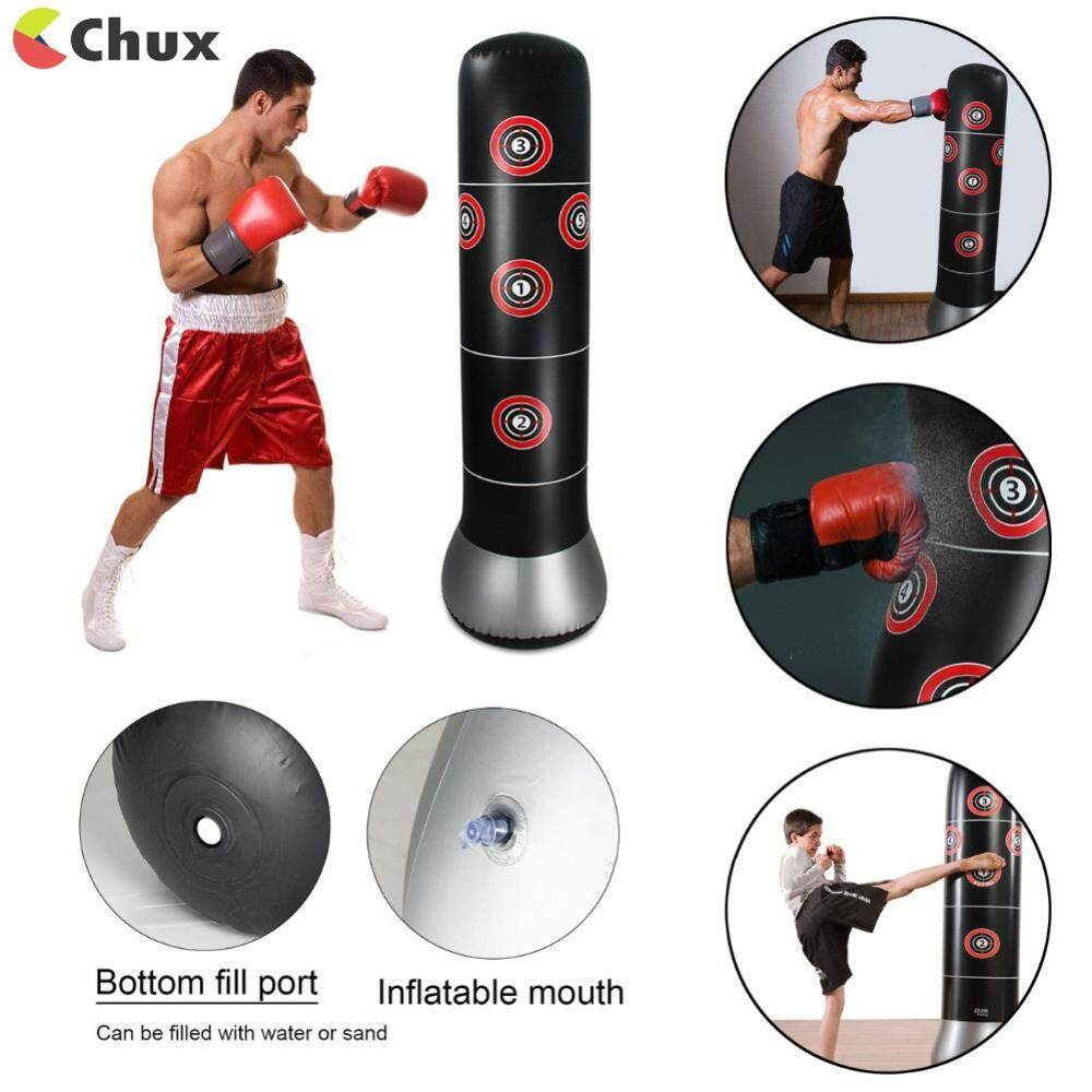 Chux 1 5M Fitness Inflatable Sandbag Punching Bag Stress Punch Tower Speed  Bag Stand Power Boxing MMA Target Bag For Teenagers Adult