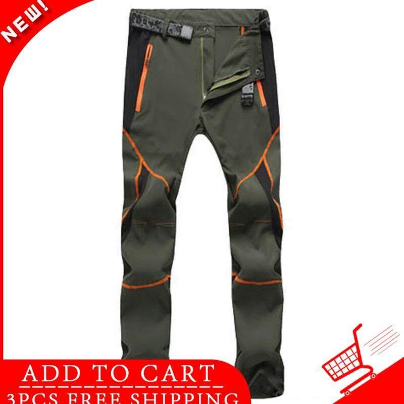 bac5b548d WJKFGI New Men Hiking Pants Outdoor Softshell Trousers Waterproof Windproof  Thermal for Camping Ski Climbing Men