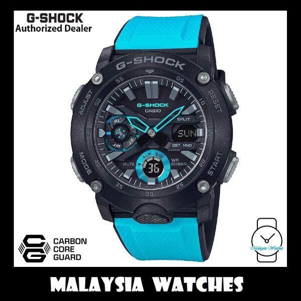 (OFFICIAL WARRANTY) Casio G-SHOCK GA-2000-1A2 Standard Analog-Digital Carbon Core Guard Blue Resin Watch GA-2000 / GA2000 / GA2000-1A2 / GA-2000-1A2DR Malaysia