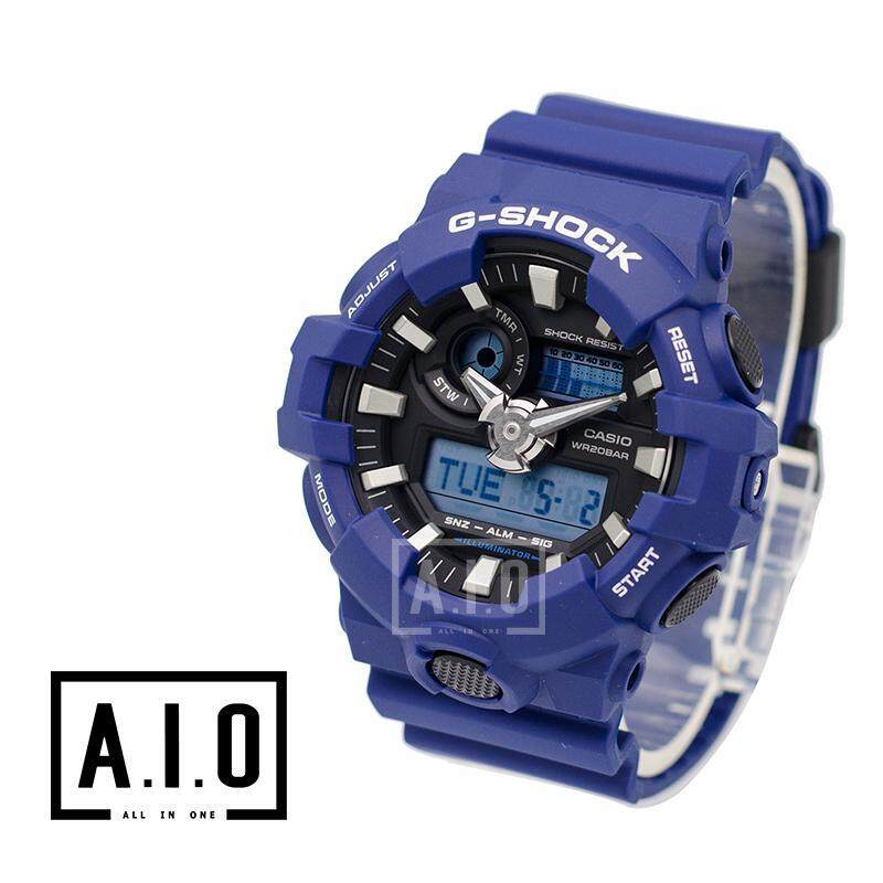 [100% Original G SHOCK]Casio G-Shock GA-700 Blue Resin Band Watch GA700-2A GA-700-2A (watch for man / jam tangan lelaki / casio watch for men / casio watch / men watch / watch for men) Malaysia