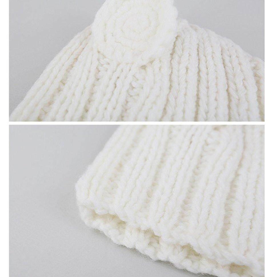 Image 2 for BGD ใหม่หมวกเด็กฤดูใบไม้ร่วงและฤดูหนาว 0-3 ปี Handmade หูหมีหมวก