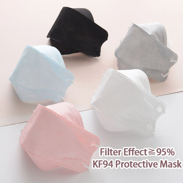 50Pcs Korea KF94 Reusable Mask 4 Ply Protection Face Mask 95% filtering effect (KN95 level protection)