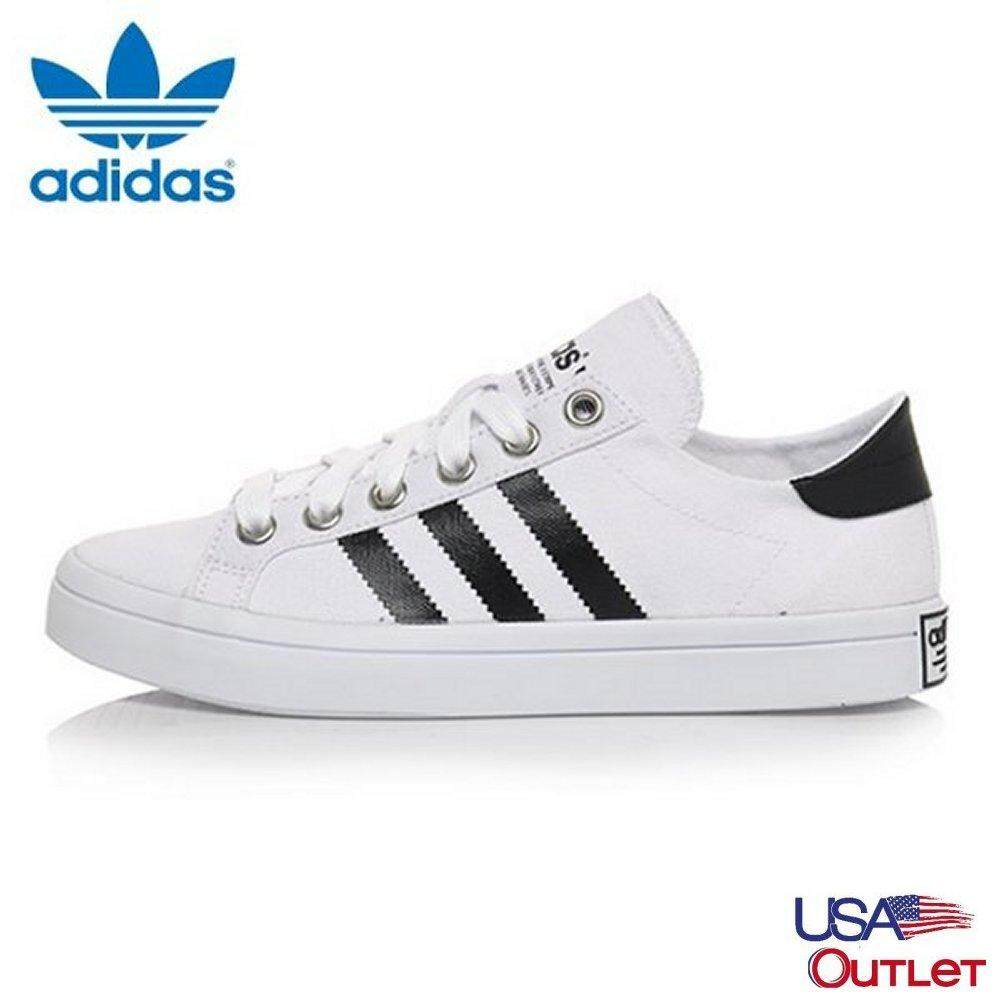 new product f16b8 8c51a Adidas Unisex Originals Court vantage S78765 white black silver Casual shoes