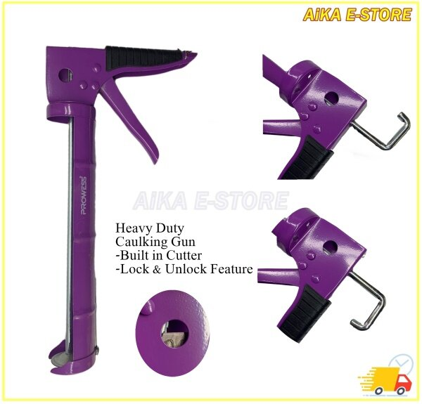Prowess Heavy Duty Silicone Gun I Built in Cutter Silicone Gun I Good Quality Silicone Gun with Lock Function