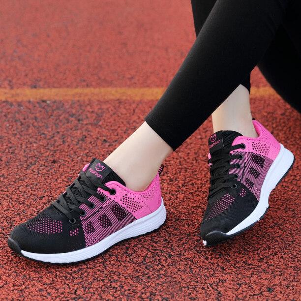 Giày Thể Thao Thu Đông Giày Của Phụ Nữ Chạy Giày Giày Lưới Thoáng Khí Nhẹ Đi Du Lịch Giày Thường Ngày Đế Mềm Cho Học Sinh Nữ Phụ Nữ giá rẻ