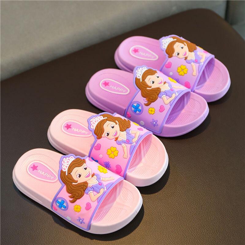 Oo รองเท้าแตะเด็ก,รองเท้าชายหาดการ์ตูนพร้อมพื้นรองเท้านิ่มสำหรับเด็กผู้หญิง.