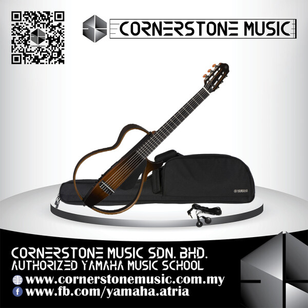 Yamaha Nylon String Silent Guitar SLG 200 N ( SLG-200N / SLG200N / SLG200 N / SLG 200N / SLG200NTBS ) - TBS / Tobacco Brown Sunburst Cornerstone Music Malaysia