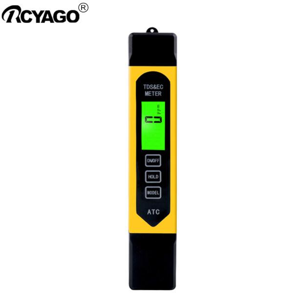 RCYAGO Digital TDS/EC Meter Temperature Conductivity Analyzer with backlight