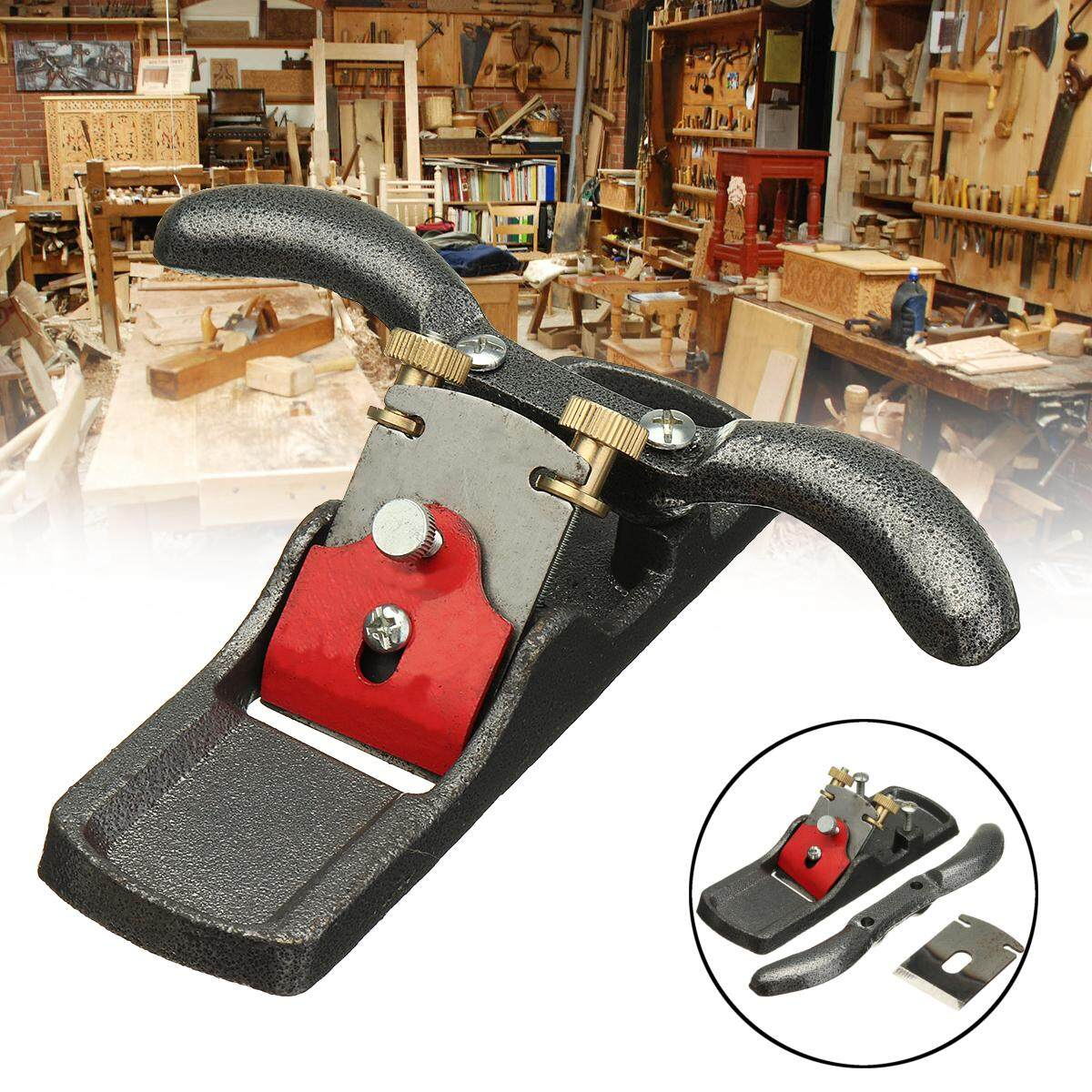 【Free Shipping + Flash Deal】Metal Woodworking Blade Spoke Shave Manual Planer Plane Deburring Hand Tools