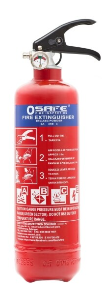 Osafe Fire CE certified 1kg Fire Extinguisher