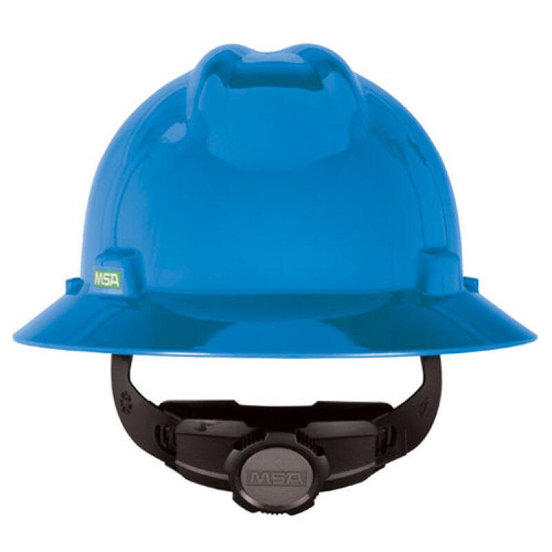 MSA Full V Gard Brim Safety Helmet Industrial Comfort Hat Head Anti Impact Protection Ratchet Adjustable Hardness